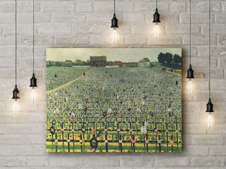 Vallotton: The Military Cemetery at Chalons . Fine Art Canvas.